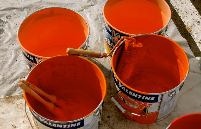 Nettoyer un pinceau, rouleau de peinture