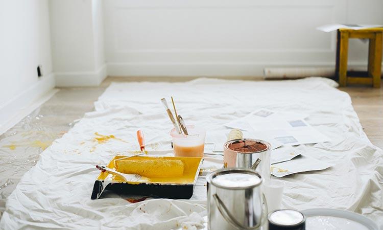 bache de protection peinture