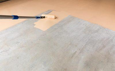Peindre une dalle en béton
