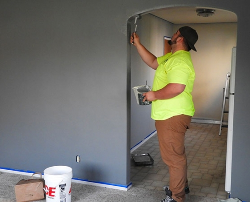 preparer mur avant peinture