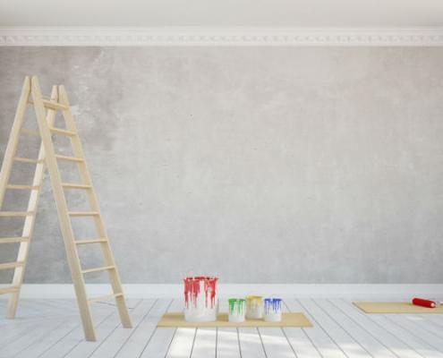 Lessivage mur peint