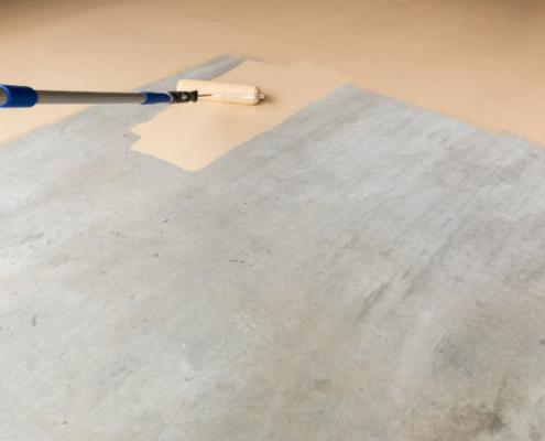 Preparer sol en beton ou ciment avant peinture