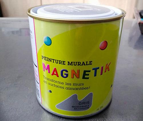 peinture magnetique gris