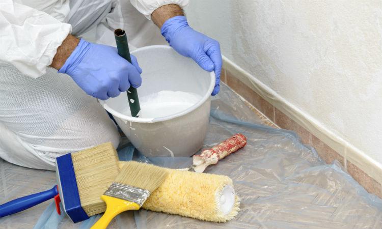 Peinture pour support humide