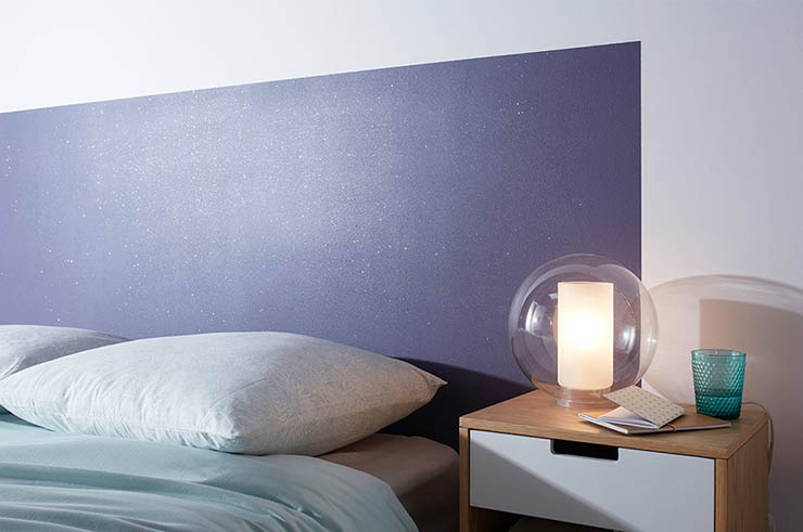 peinture paillete chambre